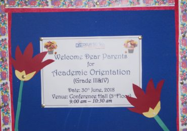 Parents Orientation - Grades III & IV