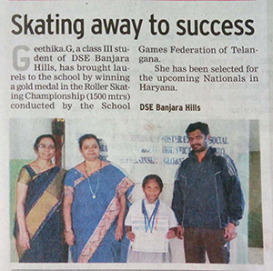 Geethika of skating
