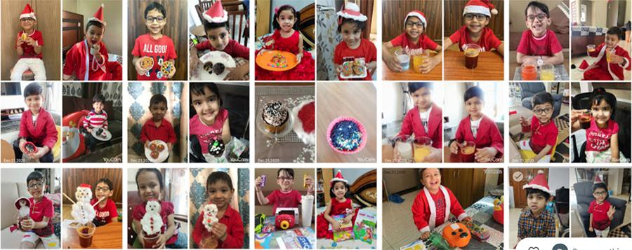 Preprimary Christmas and  Red color Day celebrations